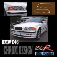 Chromové rámečky předních světlometů BMW 3 E46 4dv. rok výroby 98-02