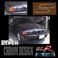 Chromové rámečky předních světlometů BMW 3 E46 2dv. od roku výroby 1998-