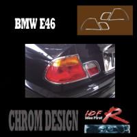 Chromové rámečky zadních světlometů BMW 3 E46 2dv. od roku výroby 1998-