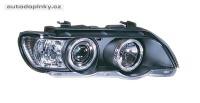 Přední světla (lampy) černé s Angel Eyes BMW X5 -- rok výroby 2000-03